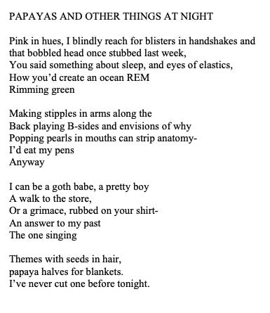 papayas poem